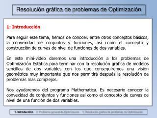 Resolución gráfica de problemas de Optimización