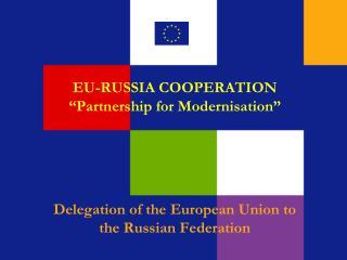 EU-RUSSIA COOPERATION  Partnership for Modernisation