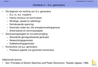 Hoofstuk 4 – G.s. generators