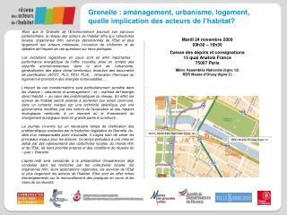 Grenelle : aménagement, urbanisme, logement,  quelle implication des acteurs de l'habitat?
