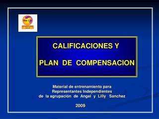 CALIFICACIONES Y  PLAN  DE  COMPENSACION