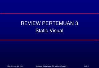 REVIEW PERTEMUAN 3 Static Visual
