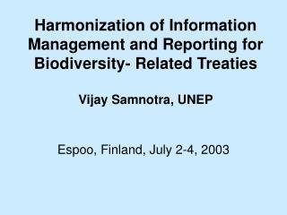 Espoo, Finland, July 2-4, 2003