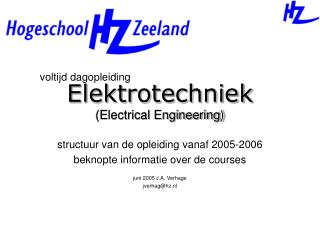 Elektrotechniek (Electrical Engineering)