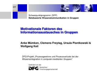 Motivationale Faktoren des Informationsaustausches in Gruppen