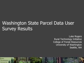 Washington State Parcel Data User Survey Results