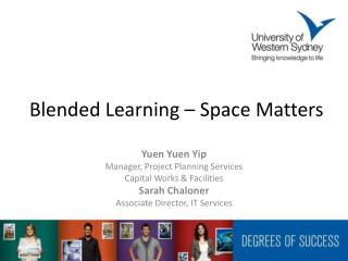 Blended Learning – Space Matters