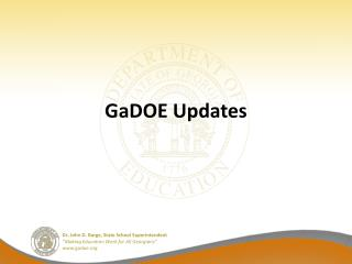 GaDOE Updates