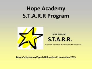 Hope Academy S.T.A.R.R Program