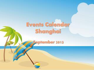Events Calendar Shanghai