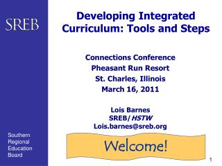 Developing Integrated Curriculum: Tools and Steps