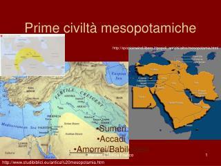 Prime civiltà mesopotamiche