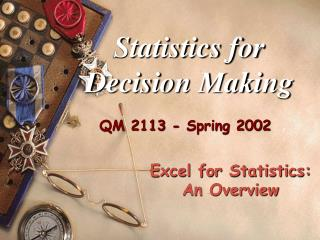 Statistics for Decision Making