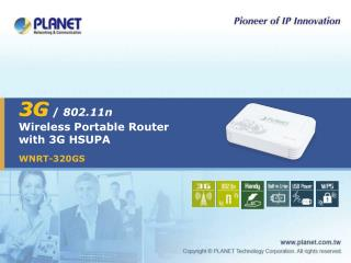 3G  /  802.11n Wireless Portable Router with 3G HSUPA