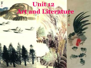 Unit 12  Art and Literature