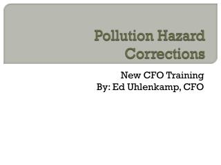 Pollution Hazard Corrections