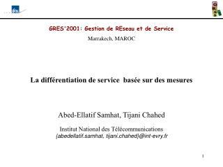 GRES'2001: Gestion de REseau et de Service Marrakech, MAROC