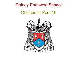 Rainey Endowed School Choices at Post 16