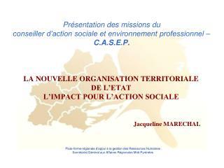 LA NOUVELLE ORGANISATION TERRITORIALE  DE L'ETAT L'IMPACT POUR L'ACTION SOCIALE