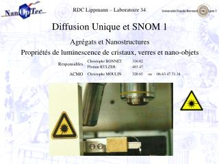 RDC Lippmann – Laboratoire 34