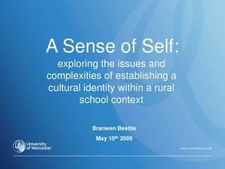 A Sense of Self: