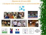 R union du 25 mars 2008   Handiguide Valide Handicap  pour un sport ensemble 2008