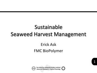 Sustainable  Seaweed Harvest Management
