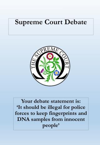 Supreme Court Debate