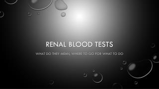 Renal Blood Tests