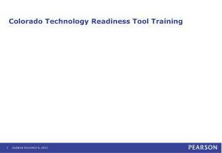 Colorado Technology Readiness Tool Training