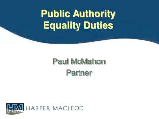 Public Authority  Equality Duties