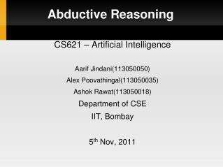 Abductive Reasoning