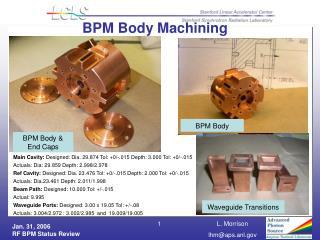 BPM Body Machining