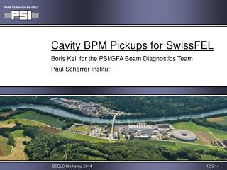Cavity BPM Pickups for SwissFEL