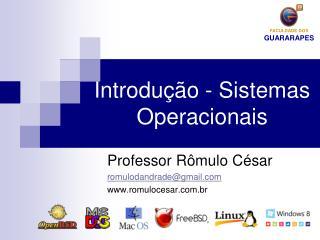 Introdução - Sistemas Operacionais