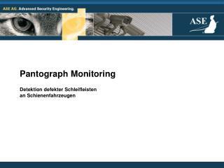Pantograph Monitoring