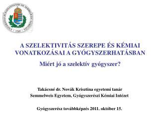 Semmelweis Egyetem, Gyógyszerészi Kémiai Intézet