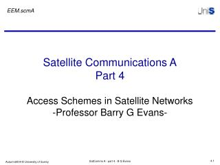 Satellite Communications A Part 4