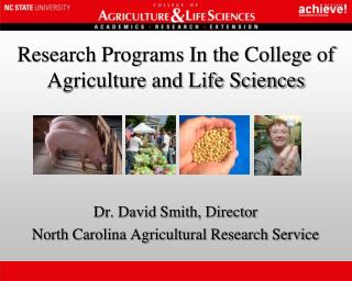 Research Programs In the College of Agriculture and Life Sciences