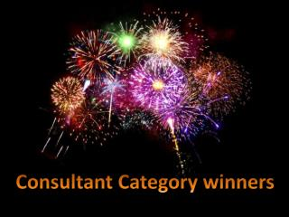Consultant Category winners