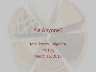 Pie Anyone?