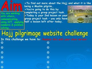 Hajj pilgrimage website challenge