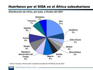 Huérfanos por el SIDA en el África sub s ahariana