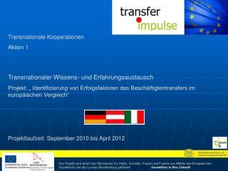 Transnationale Kooperationen Aktion 1