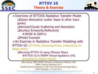 RTTOV 10 Theory & Exercise