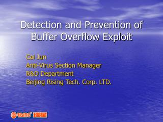 Detection and Prevention of Buffer Overflow Exploit