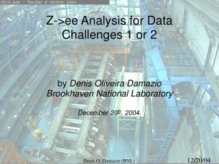 Z->ee Analysis for Data Challenges 1 or 2