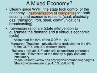 A Mixed Economy?