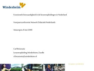 Functionele leesvaardigheid in de lerarenopleidingen in Nederland