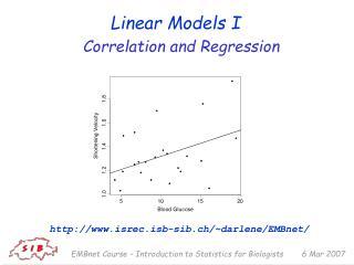 Linear Models I